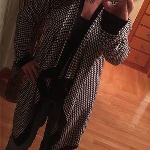 Open cascading cardigan